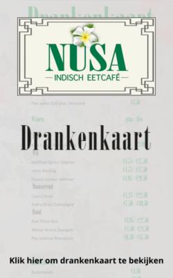Drankenkaart Eetcafé NUSA bekijken