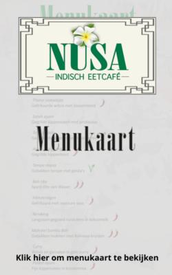 Menukaart Eetcafé NUSA bekijken